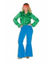 Blauwe seventies broek voor dames