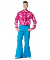 Blauwe seventies broek voor heren
