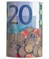 Blauwe spaarpot 20 euro 10 x 15 cm