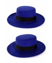 Blauwe spanjaard hoed