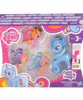 Blauwe speelgoed my little pony trixie 8 cm