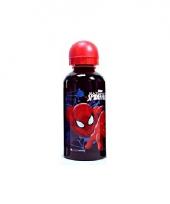 Blauwe spiderman bidon aluminium