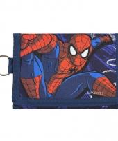 Blauwe spiderman portemonnee