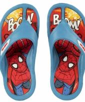 Blauwe spiderman slippers voor kids