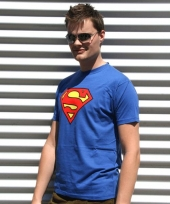 Blauwe superman t-shirts