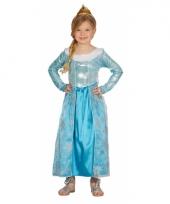 Blauwe verkleed prinsesjurk