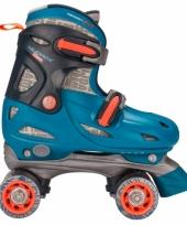 Blauwe verstelbare skates voor kinderen maat 27 30