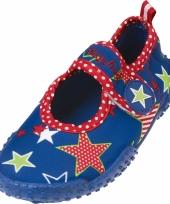 Blauwe waterschoenen kids met sterren