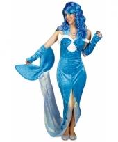 Blauwe zeemeermin jurk voor dames