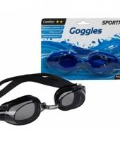 Blauwe zwembril voor volwassen
