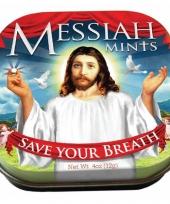 Blikje met de tekst messiah mints