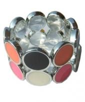 Bling armband met kleurtjes