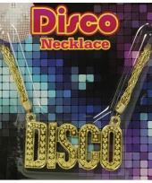 Bling bling gouden ketting disco