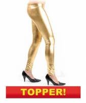Bling bling legging in het goud