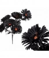 Bloemen boeket zwart nep