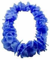 Bloemenkrans ketting blauw
