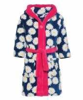 Bloemenprint badjas met margrieten voor meisjes kinderen