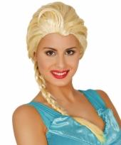 Blonde prinsessen pruik met lange paardenstaart