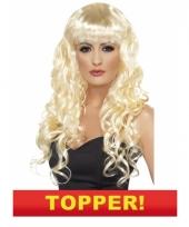 Blonde snollen pruik 10049652