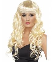 Blonde snollen pruik