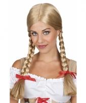 Blonde tiroler pruiken voor vrouwen