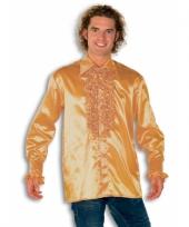 Blouse goud met rouches heren 10029798