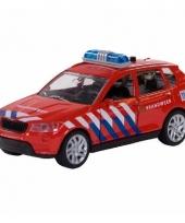 Bmw brandweerauto met sirene 12 cm