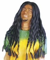Bob marley pruik met zwarte dreads