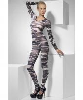Bodysuit met leger print dames