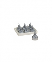 Boeddha lichtjes zilver 6 stuks 5 cm