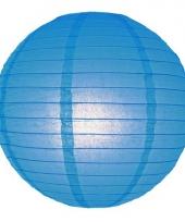 Bol lampion blauw 25 cm
