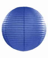 Bol lampion donker blauw 25 cm