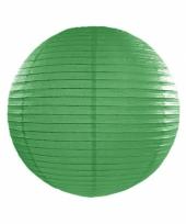Bol lampion donker groen 25 cm