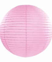 Bol lampion lichtroze 35 cm
