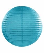 Bol lampion turquoise blauw 25 cm