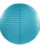 Bol lampion turquoise blauw 35 cm