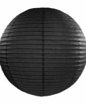 Bol lampion zwart 35 cm