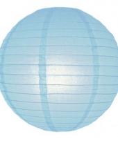 Bol lampionnen lichtblauw 25 cm