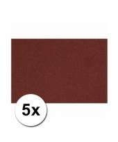 Bordeaux knutsel karton a4 5 stuks