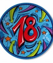 Borden 18 jaar 33 cm blauw