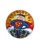 Borden 30 jaar 33 cm superhero