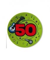 Borden 50 jaar 23 cm groen