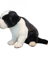 Border collie puppie knuffel 25 cm