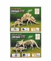 Bouwpakketten van 2 houten dinos 10104862