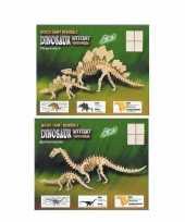 Bouwpakketten van 2 houten dinos 10104866