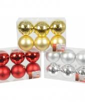 Box met kerstballen 6 cm 6 stuks