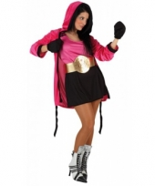 Boxing lady kostuum roze