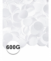 Brandvertragende confetti wit 600 gram