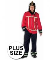Brandweer pak grote maat voor mannen