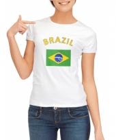 Braziliaanse vlaggen t-shirt voor dames